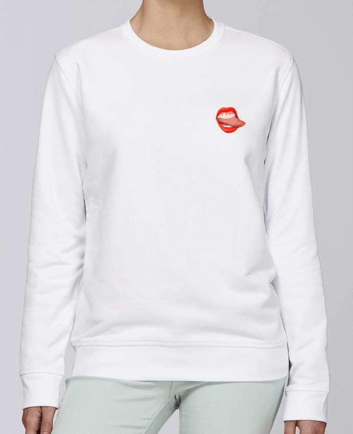 Unisex Sweatshirt Crewneck Medium Fit Rise Tongue by lisartistaya