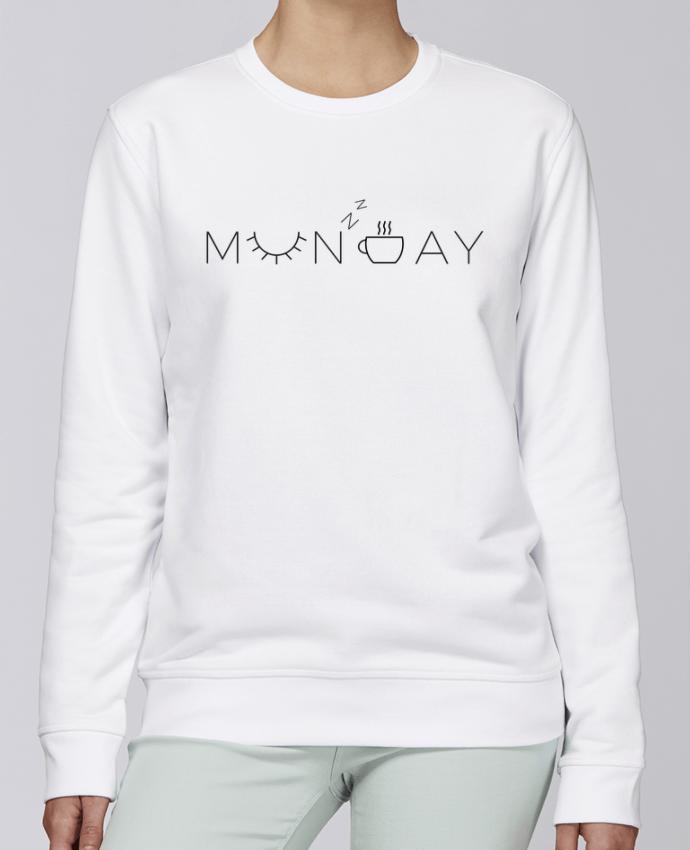 Unisex Sweatshirt Crewneck Medium Fit Rise Monday by Ruuud