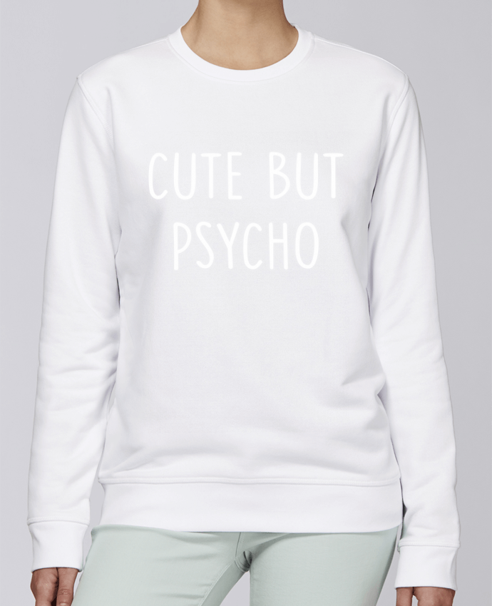 Unisex Sweatshirt Crewneck Medium Fit Rise Cute but psycho by Bichette