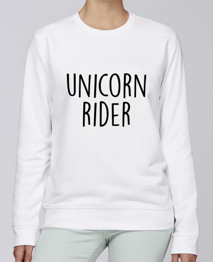 Unisex Sweatshirt Crewneck Medium Fit Rise Unicorn rider by Bichette