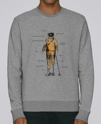 sweatshirt crew neck Stella Seeks Astropirate with text by Florent Bodart