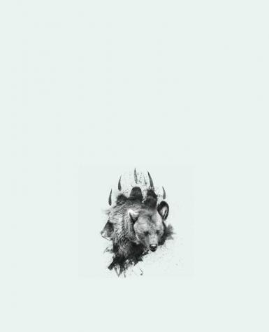 Tote Bag cotton Bear footprint by WZKdesign