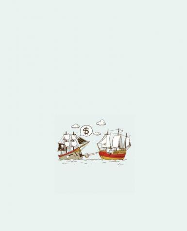Tote Bag cotton Pirate by flyingmouse365
