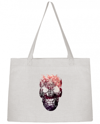 Shopping tote bag Stanley Stella Floral skull by ali_gulec