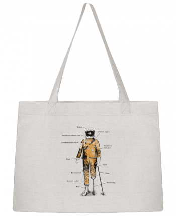 Shopping tote bag Stanley Stella Astropirate with text by Florent Bodart