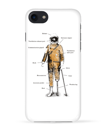 Case 3D iPhone 7 Astropirate with text de Florent Bodart