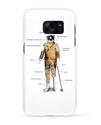 Case 3D Samsung Galaxy S7 Astropirate with text by Florent Bodart