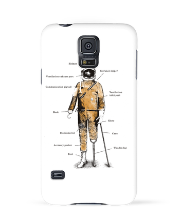 Case 3D Samsung Galaxy S5 Astropirate with text by Florent Bodart