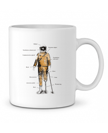 Ceramic Mug Astropirate with text by Florent Bodart