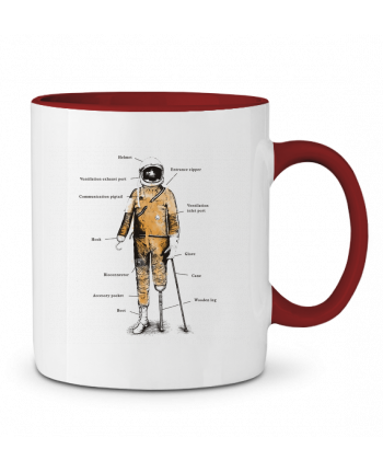 Two-tone Ceramic Mug Astropirate with text Florent Bodart