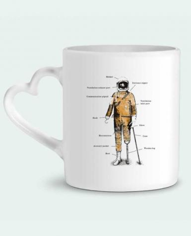 Mug Heart Astropirate with text by Florent Bodart