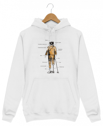 Hoodie Men Astropirate with text by Florent Bodart