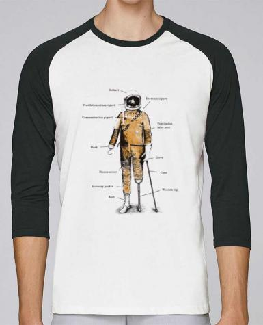 T-shirt Baseball crew-neck unisex stanley stella Astropirate with text by Florent Bodart