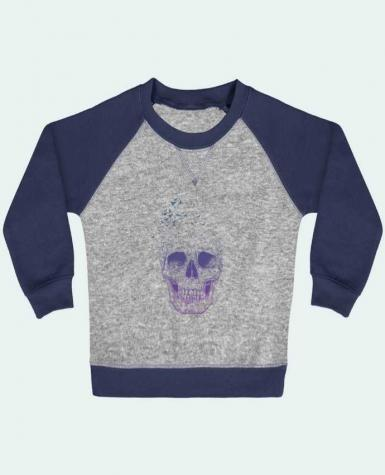 Sweatshirt Baby crew-neck sleeves contrast raglan Let Them Fly by Balàzs Solti