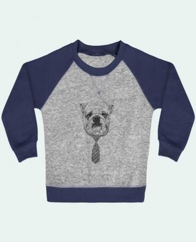 Sweatshirt Baby crew-neck sleeves contrast raglan Cool Dog by Balàzs Solti